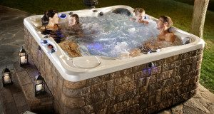 people in hot tub